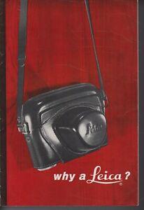 LEICA , LEITZ , WHY A LEICA?