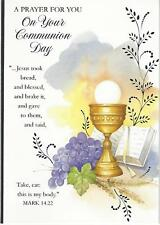 First Holy Communion Day Card 1st Girl Boy Various Designs Prayer FREE UK POST