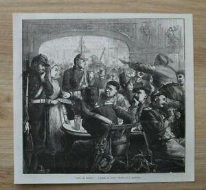 L12c) Holzstich Lyon 1870 Pour Les Blesses F Barnard Krieg Frankreich 26x24 cm