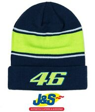 VR46 Racing Beanie  Official Valentino Rossi Winter Hat Yamaha Blue Green J&S