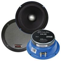 "AMERICAN BASS SQ-6B 6.5"" 150W RMS SQ-SERIES 8-OHM CAR AUDIO MIDRANGE SPEAKER NEW"