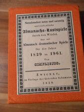 "Simplicius ""999 Almanach`s Lustspiele"" (Reprint 1829/Bärmann) Würfel-Spiel"