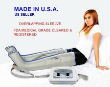 Air Compression Leg Massager (MADE IN USA, FDA 510K CLEARED) FULL LEG PAIR/LARGE