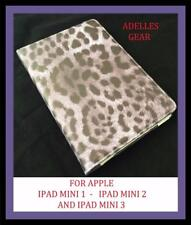 FOR APPLE IPAD MINI 1 2 OR 3  COVER CASE -GREY BLACK LEOPARD PRINT DESIGN