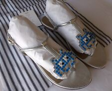 Anya Hindmarch 'SPACE INVADER' SANDAL in SILVER METALLIC NAPPA - SIZE 38 - BNWT