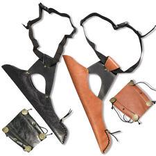 Leather Arrow Hip Quiver Waist Bag Arm Guard Traditional Archery Bow Shooting
