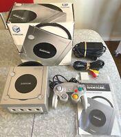 Nintendo GameCube Platinum Console Complete In Box w/ OEM Controller DOL-101