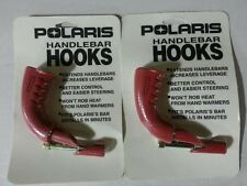 POLARIS Snowmobile 90 Degree Red Handlebar Hooks PAIR - NEW - OEM