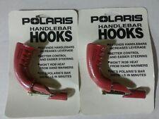 POLARIS Snowmobile 90 Degree Red Handlebar Hooks PAIR - NEW - OEM