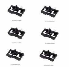 BMW E53 X5 3.0i 4.4i 4.6is 4.8is OEM Set of 6 Front Black Door Seal Clips NEW