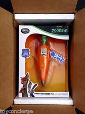 DISNEY Store ZOOTOPIA Judy Hopps CARROT RECORDER PEN Toy w/Box NEW