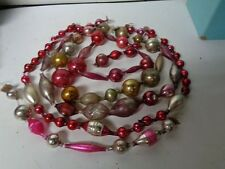 120 Inches of Old Glass Bead Christmas Garland