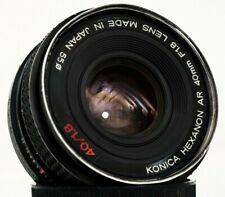 KONICA HEXANON AR 40mm F1,8 pancake - lens made in Japan