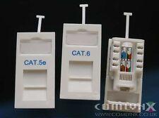 15x CAT6 UTP RJ45 Low Profile 25x50 Euro Data Network LAN Gigabit Module