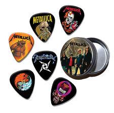 Metallica Conjunto de 6 Suelto Guitar Picks en Lata (Colección D)