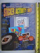 NHL National Hockey League Sticker Activity Set Rare