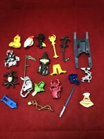 Imaginext Figures Accessories Lot Of 20 Weapons Head Covering