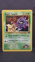 Koga's Tangela 81 Gym Challenge Common Pokemon Card Near Mint