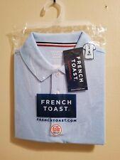 French Toast Pique Polo, Short Sleeve, Boys/Unisex Small 6/7, New, Light Blue