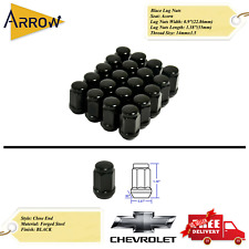 24PC GMC 14X1.5 WHEEL LUG NUTS BULGE ACORN BLACK CONICAL SEAT FOR GMC MODELS