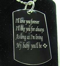 VALENTINES SPECIAL PROMISE FROM ALL SIDES OF MY HEART TAG PENDANT NECKLACE