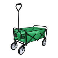 Chariot pour Jardin Pliable Caddie Utilité Brouette Vert Transport Puissant