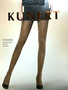 Kunert Fashion Tights, Shiny, Opaque, Leopard Pattern, 120 Den