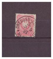 Deutsches Reich, MiNr. 41 K 1 Dresden 3. * * 03.05.1887