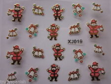 3D Sticker Christmas Unbranded Nail Art Accessories