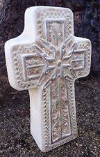 """Gostatue concrete plaster Cross mold free standing statue plastic mould 3"""" thick"""