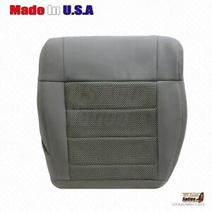 2007 2008 Jeep Wrangler Driver Side Bottom Replacement Cloth Seat Cover Gray
