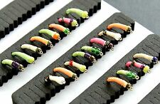 20 mixed GLOW-IN-THE-DARK EPOXY BUZZERS trout fly fishing flies SET 151-16