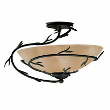 Light Fixtures For Dining Room One Semi Flush Mount Ceiling Asian Rustic Country