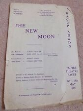 Bacup Amateur Operatic & Dramatic Society 1965 Programme The New Moon Full Cast