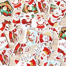 48pcs Christmas Paper Stickers Decoration Decal Home Decor Xmas Santa Claus