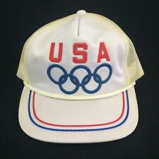 VTG USA Olympics Snapback Hat Cap Drew Pearson Clutch 80s Licensed Collectible