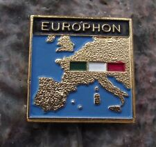 Antique Europhon Transistor Record Player Audio Equipment Italy Flag Pin Badge