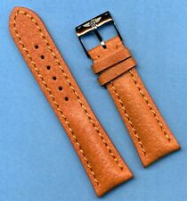 22mm GENUINE WILD BOAR STRAP BAND PADDED LEATHER LINED & BREITLING BUCKLE