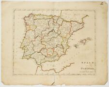 Mathew CAREY / Map Spain and Portugal 1814