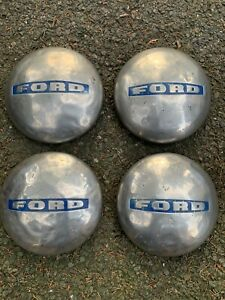 4x OLD 1948-52 Ford F-2 Truck 3/4 Ton Stainless Steel Dog Dish Hubcap FoMoCo set