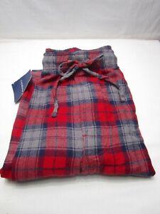 Croft & Barrow Red Gray heather Plaid Sleep pants Size XL New