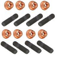 8 x Stehbolzen Stiftschraube Abgaskrümmer Turbo Hochfest M8x45mm + 8 St. Muttern