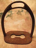 Single ANTIQUE 1800's LARGE Southern Iron PFelantation Saddle Stirrup