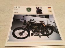 Carte moto Adler 370 1903 collection Atlas Motorcycle Allemagne