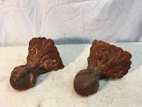 Set Of 2 Antique Victorian Cast Iron Ball Eagle Claw Bath Tub Feet lot 4