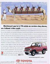 PUBLICITE ADVERTISING 095 1993 Toyota le LJ 70