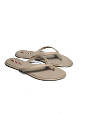 Authentic PRADA women's beige flip-flop shoes | Size EUR 38 (24.5 cm / 9.4 in)