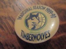 pin's inaugural season 1989-90 timberwolves minnesota (sans attache)