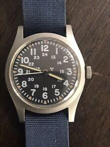 Vintage MIL-W-46374B Mar 1981 Hamilton Manual Wind Men's Military Watch Runs