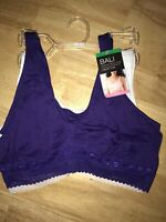 New Bali Crop Top Comfort Revolution Seamless 2 PACK Bra Large BNWT NO HANGER